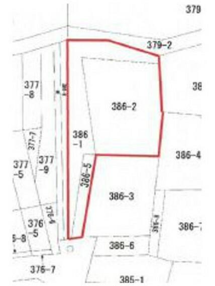 区画図 敷地約147坪と大変ゆとりある面積。南道路に面し日照良好です。