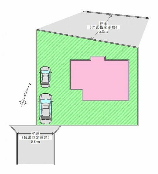 区画図 配置図 駐車2台分