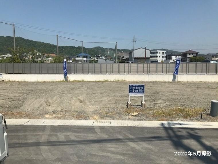 現況写真 2号地 土地面積:157.58平米(約47.66坪) 日当たり良好の敷地です。