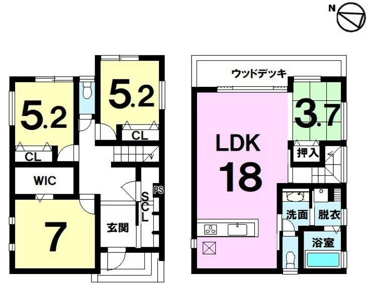 間取り図 モデルハウス 琵琶湖パノラマビューの家 角地・2WAYアクセス可・駐車2台可・眺望のよい2階リビング