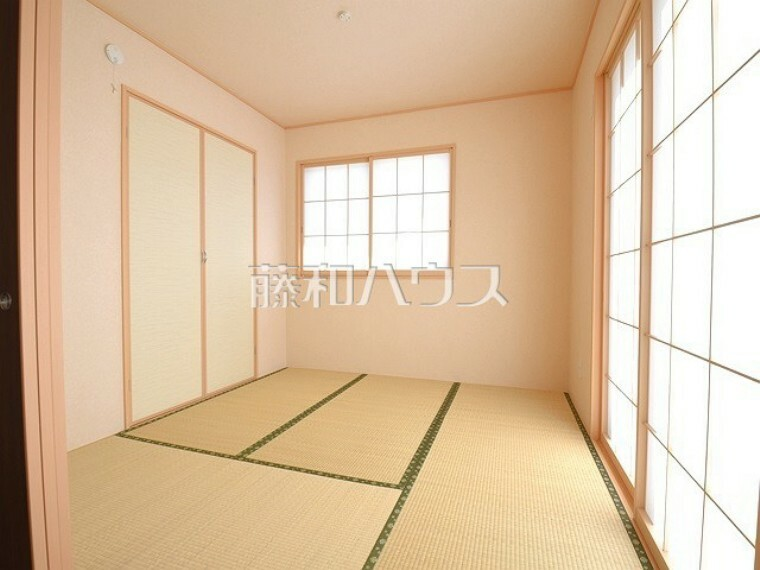 1号棟 和室は家事の合間のちょっとひと息、お子様のお昼寝にちょうど良い空間です 【武蔵野市八幡町3丁目】