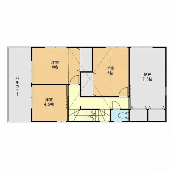 間取り図・図面 4号棟(2階)建築参考プラン