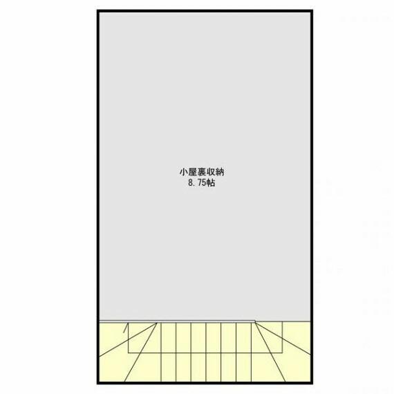 間取り図・図面 4号棟(小屋裏収納)建築参考プラン