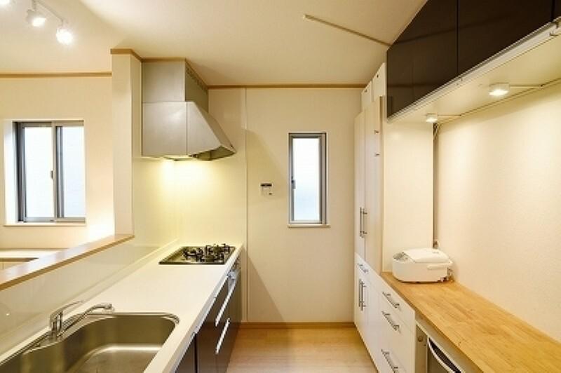 キッチン リビングが見渡せる対面式のキッチン!