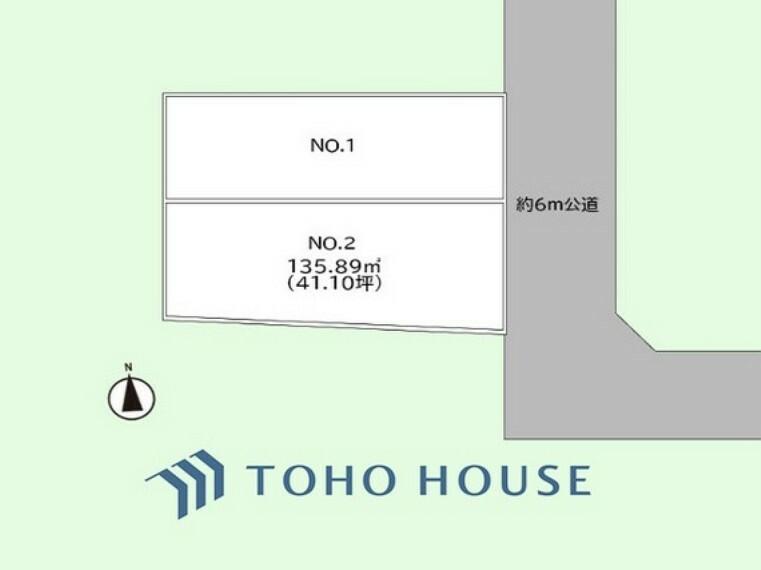 区画図 土地面積135.89平米