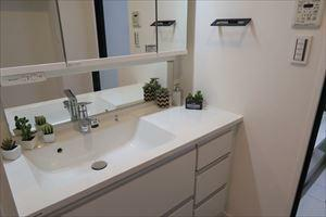 洗面化粧台 収納箇所の多い洗面化粧台です