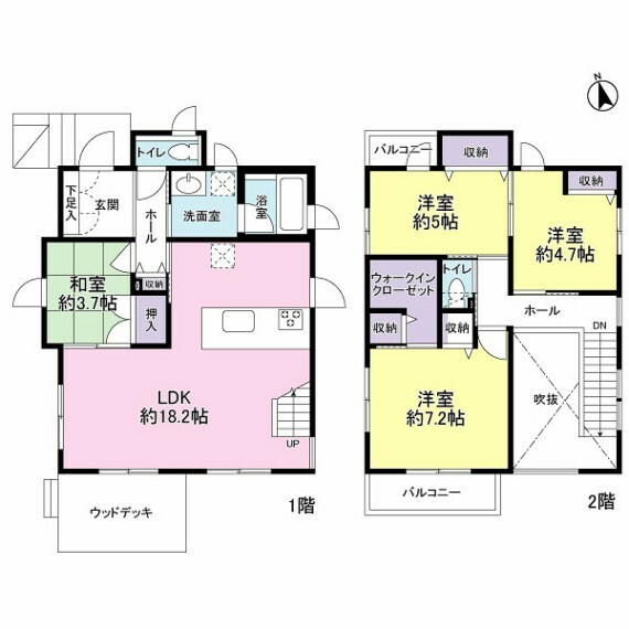間取り図 開放感でスタイリッシュな空間。家事導線も良いです。