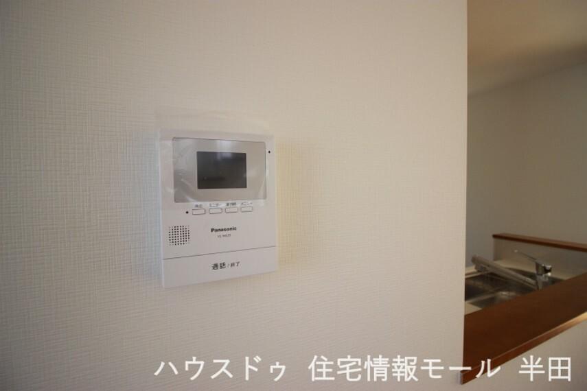 防犯設備 来訪者を確認出来るモニター付インターホン