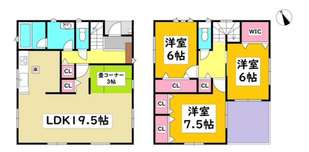 間取り図 安城市【城南町】に全5棟の新築分譲住宅が完成しました。現地案内会実施中!!お気軽にお問い合わせください。