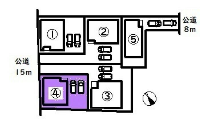 間取り図・図面 敷地面積:132.24平米 お車は並列2台駐車可能です
