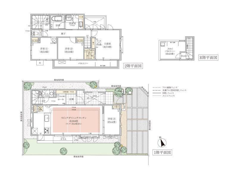 間取り図 4号棟 4LDK 敷地面積/130.69平米 建物面積/102.39平米