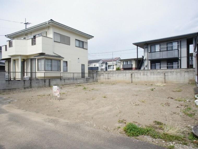 現況写真 前橋市川曲町 建築条件無し売地 現地土地写真です。