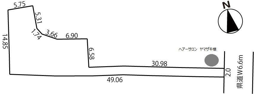 土地図面 正味敷地面積:201.14平米(60.84坪)
