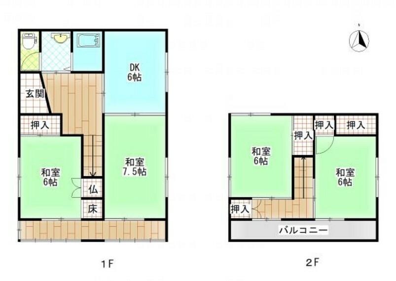 間取り図 【リフォーム前間取り図】これから間取り変更を行い、LDK作成、浴室1坪拡張、駐車場拡張などリフォームしていきます。お客様の住みやすさを考え、清潔で安心できるお家に生まれ変わりますよ。