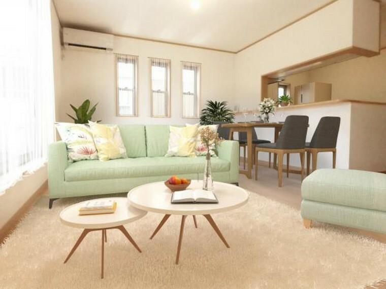 居間・リビング リビング(配置してある家具はCGによるイメージです。)