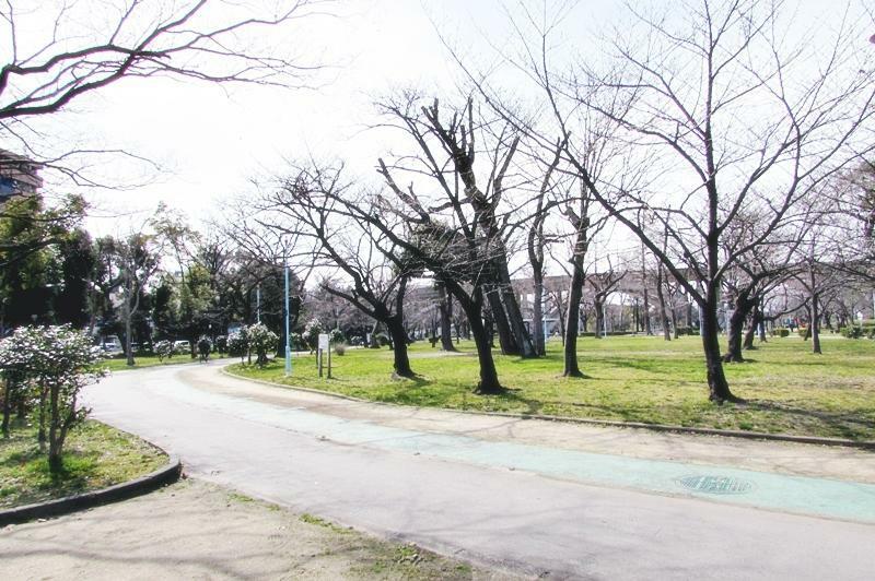 公園 城北・菖蒲園 池のある広い公園です。散歩やジョギングも楽しめます。