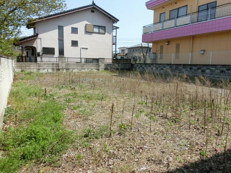 現況写真 小山市大字喜沢 建築条件無し売地 現地土地写真です。