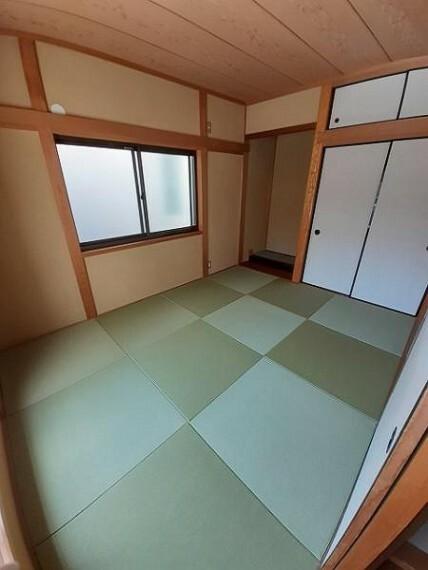 和室6帖:柔らかい畳の上なら小さなお子様が遊んでいても安心ですね!