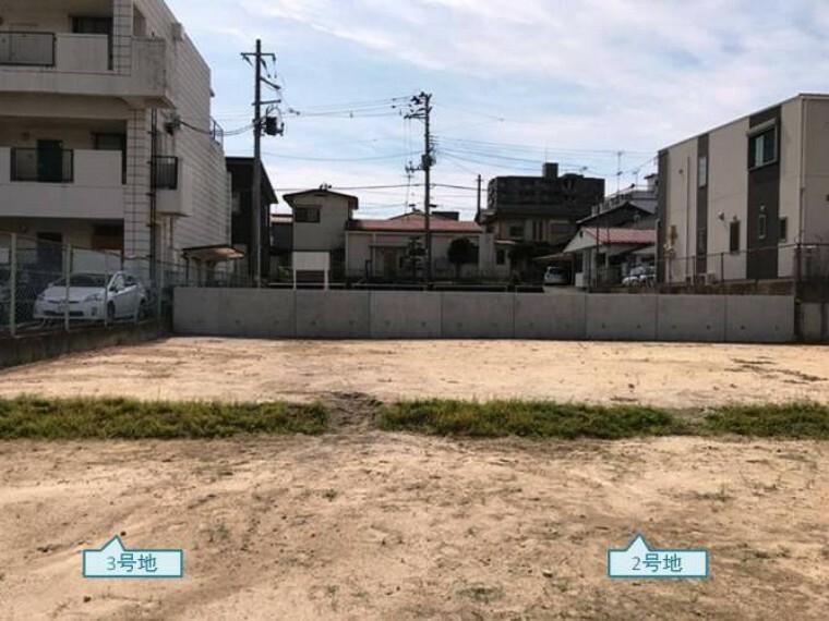 現況写真 現地写真2.3号地(2020年9月撮影)分譲地北方向より