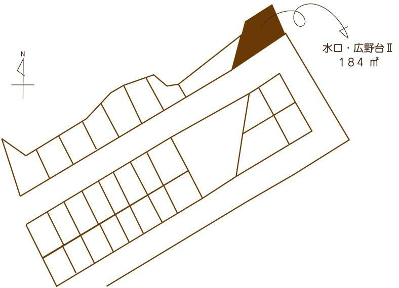 区画図 ■土地価格 128万円(2.3万円/坪) ■土地面積 184平米(55.66坪)