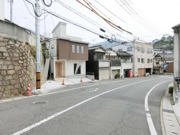 現況写真 前面道路も広く生活しやすい立地。