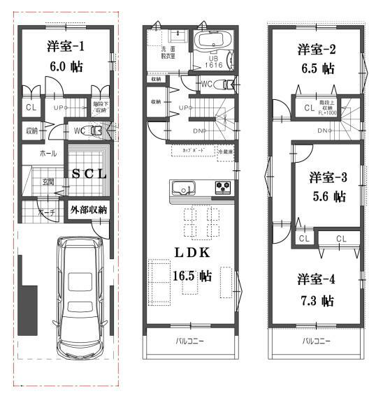 間取り図 I号地共通の間取図になります。販売価格3580万円、建物面積111.06平米