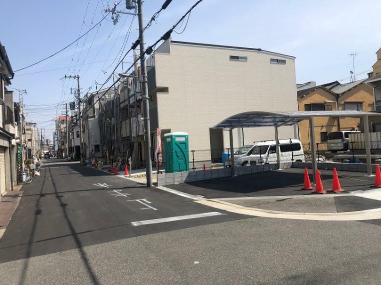 現況写真 北側の前道写真です。