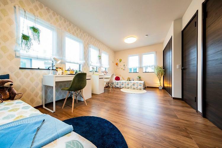 子供部屋 フレックスウォールをつけることができる洋室。収納も充実しています。(モデルハウス20号棟2020年7月撮影)※家具・調度品は販売価格に含まれません。