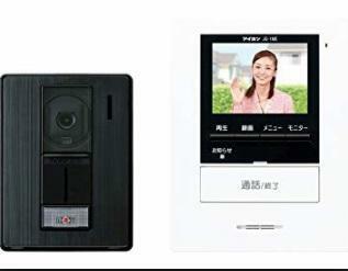 防犯設備 TVモニター付きインターホン 来訪者の確認ができて安心です。