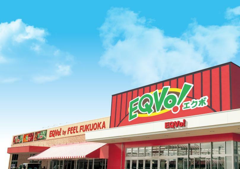 スーパー EQVo!福岡店 営業時間 10:00~20:00 (日曜日のみ9:00開店) 百円ショップやクリーニング店も併設 リサイクルとしてペットボトルなどの回収もおこなっています