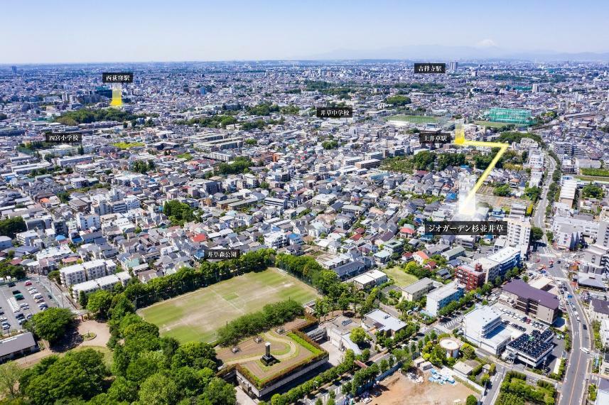 現況写真 最寄りの上井草駅まで徒歩6分。 バスや自転車を利用すれば、中央線荻窪駅や西荻窪駅も生活圏内です。