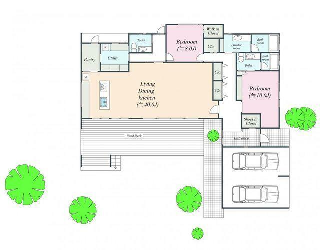 参考プラン間取り図 建物参考プラン:間取図 建物面積:230.42平米 建物価格:約6100万円