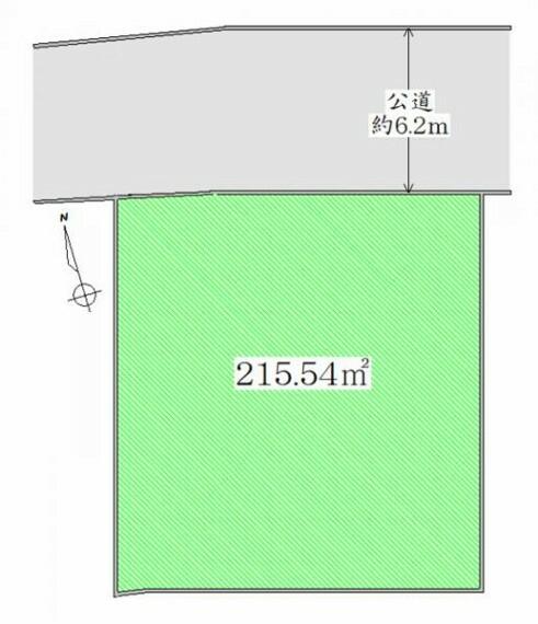 区画図 区画図 建築条件無しですのでお好きなハウスメーカーでお家が建てられます