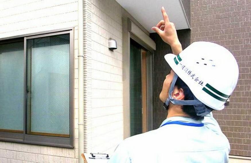 構造・工法・仕様 建築中に第三者検査と社内検査の2重の検査を実施。住宅瑕疵担保履行法では、構造耐力上主要な部分および雨水の侵入を防止する部分に関する10年間の瑕疵担保責任を対象にしています。