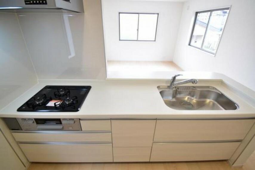 キッチン 《キッチン》オシャレな人造大理石のカウンターキッチン