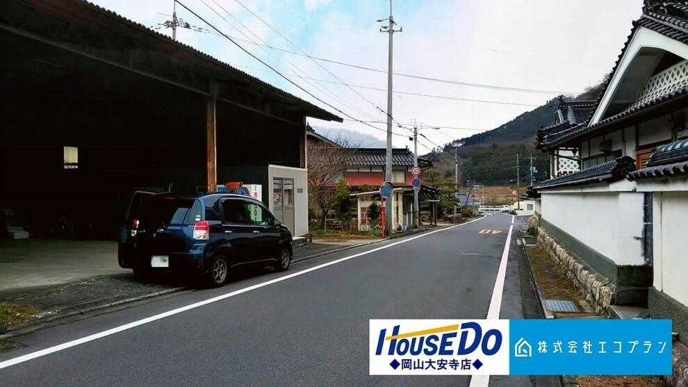 外観・現況 前面道路はゆったり約6.2m 車の出入りも安心です。