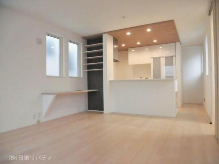 居間・リビング プライバシー性の高い2Fリビングのお家です。