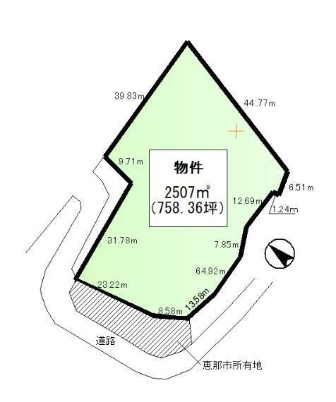 土地図面 2507平米(758.36坪)