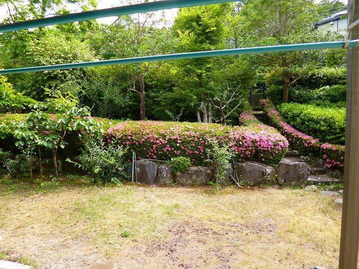 庭 平坦な芝庭があります