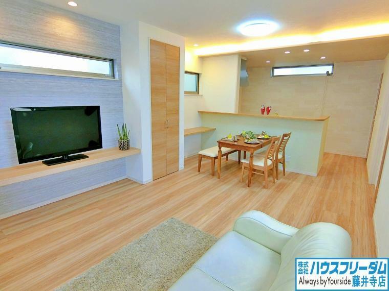 居間・リビング ダイニング、リビングと家具を配置しやすい間取りです