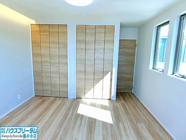 洋室 各居室収納確保されています!