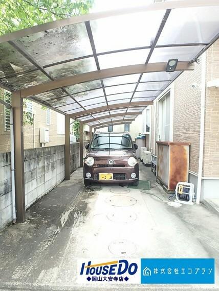 駐車場 駐車2台可能です カーポート付なので、車や自転車の保管も安心