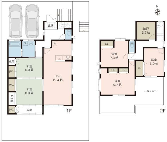 間取り図 リフォーム完了 土地面積:212.74平米(64.35坪) 建物面積:149.85平米(45.32坪)