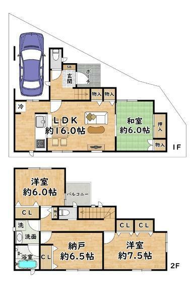 間取り図 3号地 - 間取り図 価格:2980万円 建物:100.44平米 土地:91.16平米  北側・幅員 約4.0m 東側・幅員 約4.6m