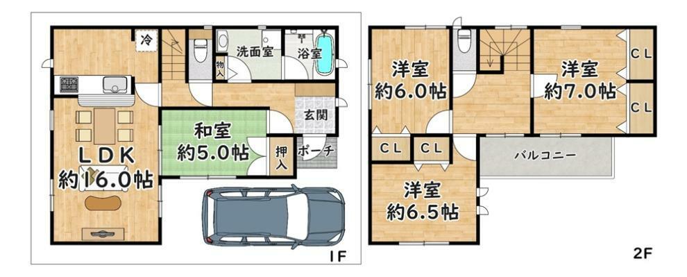 間取り図 11号地 - 間取り図 価格:2980万円 建物:100.03平米 土地:90.01平米  東側・幅員 約4.6m
