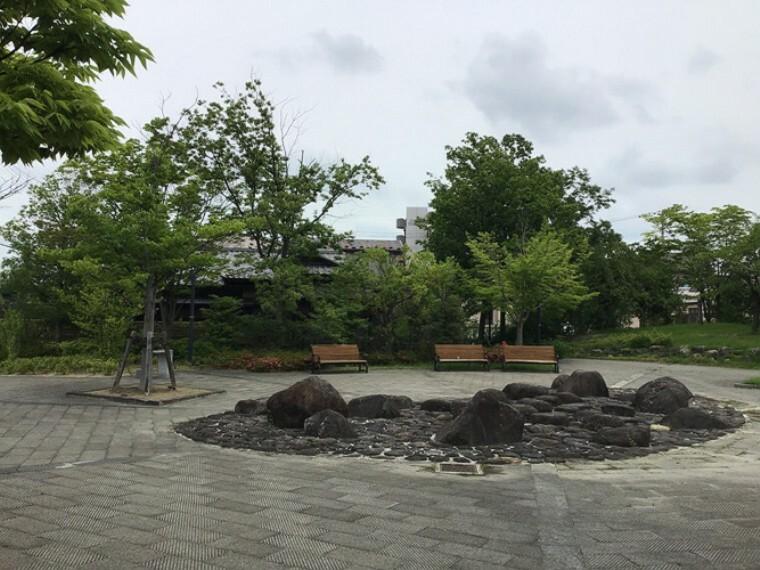 公園 分譲地西側 開拓公園(2020年6月撮影 現地1号地を起点に約30m 徒歩1分)