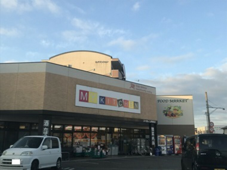 スーパー 現地1号地を起点に約400m、徒歩5分(2019年12月撮影) 毎日の買い物に便利なスーパーです。