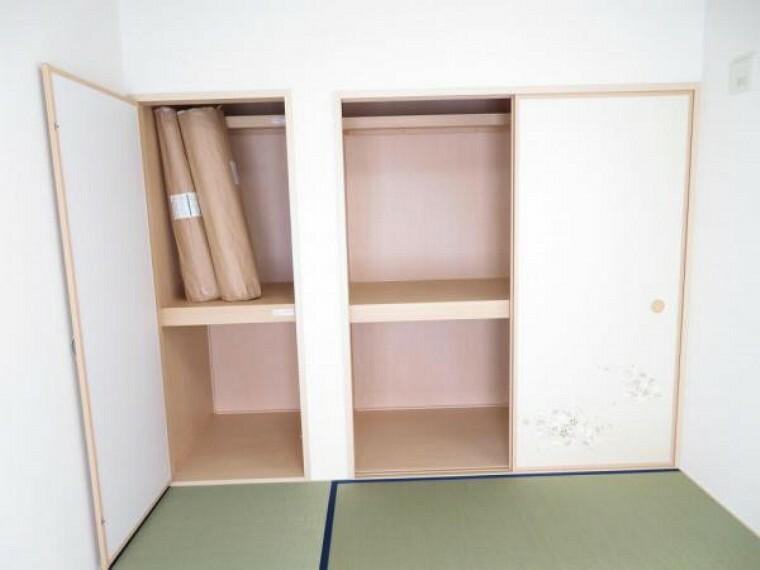 収納 和室には壁一面の収納付き