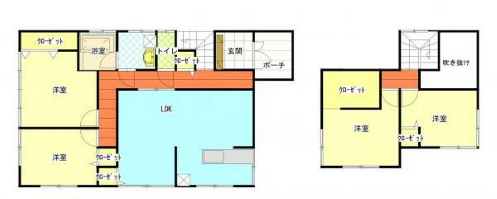 間取り図 【リフォーム後】1階はリビング17畳、7畳の洋室、6畳の洋室、2階は6.5畳の洋室、5.5畳の洋室の4LDKです。