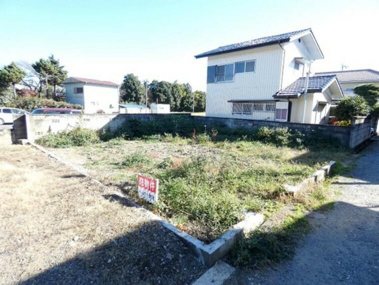 現況写真 栃木市沼和田町 建築条件無し売地 現地土地写真です。